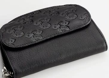 Caroline Shotton, Moo! - Black Leather Ladies Purse