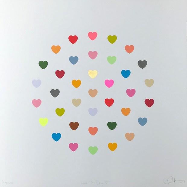 RYCA - Ryan Callanan Love Is The Drug V - AP Edition Framed Colour Silk Screen Print Framed Size 27 1/2 x 28 in Framed Size 70 x 71 cm AP Edition