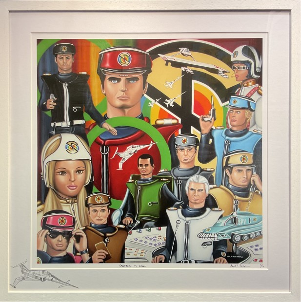 Marie Louise Wrightson, Spectrum is Green - (Captain Scarlet), 2021