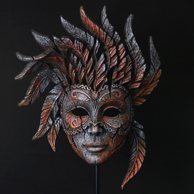 Matt Buckley, Venetian Carnival Mask - Iron Pink Mist, 2017