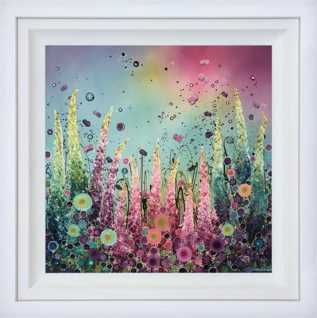 "Leanne Christie Razzmatazz, 2019 Original Mixed Media on Canvas Framed Size: 41"" x 41"" Framed Size: 102 x 102 cm"