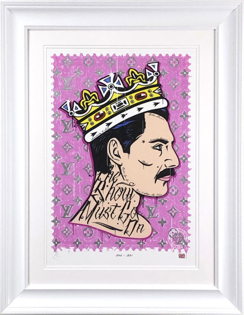 """JJ Adams The Show Must Go On/ Freddie Mercury Rock Icon, 2019 Signed Limited Edition Framed Size: 29"""" x 23"""" Limited Edition of 45"""