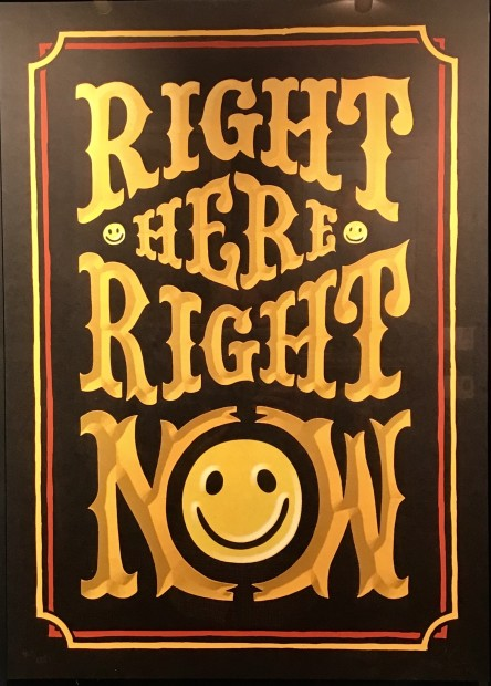 RYCA - Ryan Callanan Right Here, Right Now Silkscreen Print Framed Size: 23 5/8 x 31 7/8 in Framed Size: 60 x 81 cm Signed Limited Edition