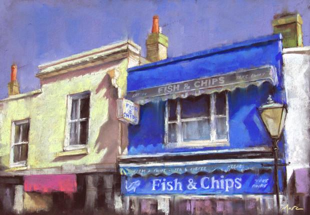 Marc Gooderham, A Brighton Series -Fish & Chips, 2018