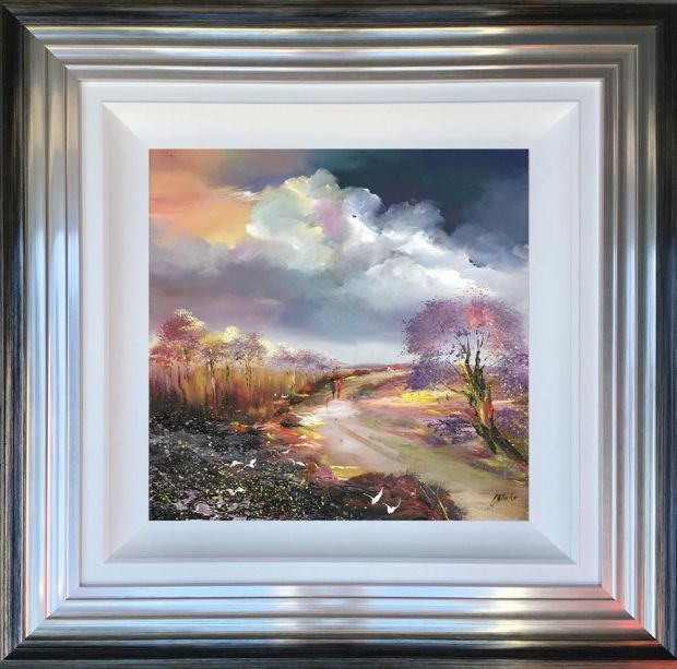 """Lillias Blackie  Winters Pass, 2018  Original Oil on Board  Framed Size: 22"""" x 22"""""""