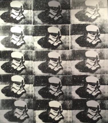 RYCA - Ryan Callanan, Stormtrooper Helmet - Canvas B/W, 2016