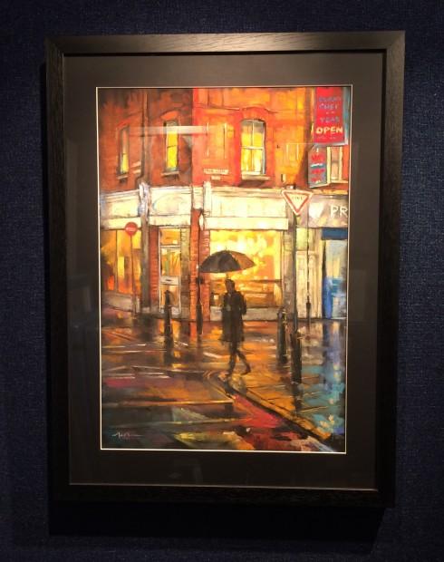 Marc Gooderham, A Little Rain - Brick Lane, 2018