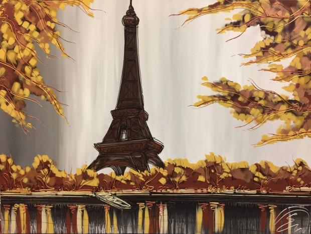 Edward Waite, Through The Leaves To Paris, 2019