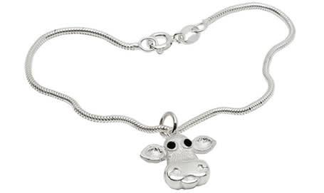 Caroline Shotton Moo! Sterling Silver Bracelet Bracelet Limited Edition of 500