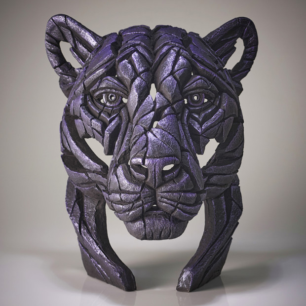Matt Buckley, Panther Bust Moon Hunter (Purple), 2020