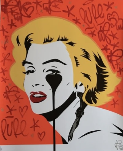 Pure Evil, Hand Finished Marilyn Glam Tangerine Dream, 2020