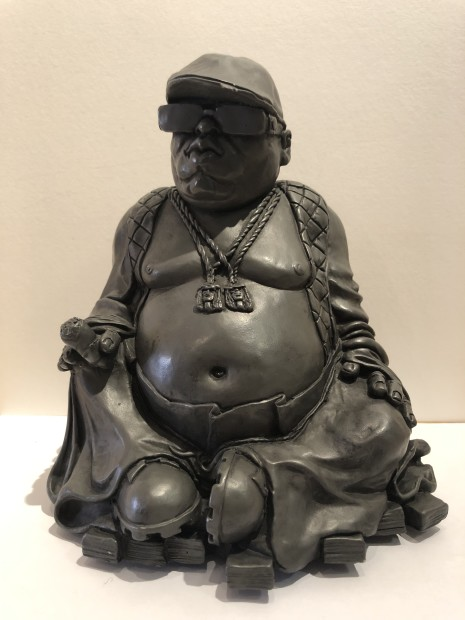 RYCA - Ryan Callanan Budda Smalls Handpainted Solid Resin Statuette Mixed Media. 8 1/4 x 6 3/4 x 5 1/8 in 21 x 17 x 13 cm Limited Edition of 8 of 9