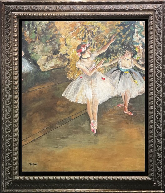 Peter Osborne Edgar Degas - Two Dancers On A Stage , 2021 Framed Original on Canvas Framed Size: 30 3/4 x 26 3/4 in Framed Size: 78 x 68 cm