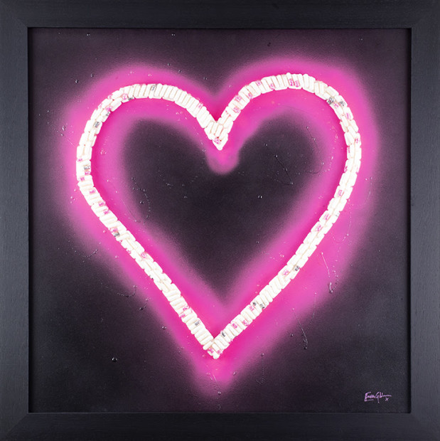 Emma Gibbons, Neon Heart (Pink) Small, 2021
