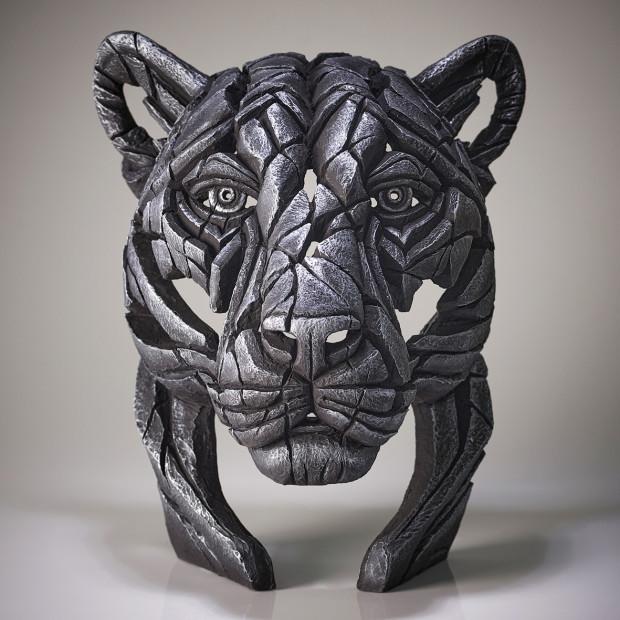 Matt Buckley, Panther Bust Silent Silver (Silver), 2020