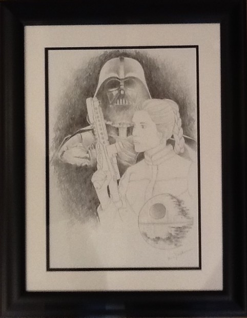 Marie Louise Wrightson Star Wars, 2018 Original Framed Drawing 16 1/2 x 11 3/4 in 41.9 x 29.7 cm