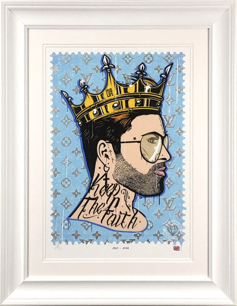 """JJ Adams Faith - George Michael / Rock Icon, 2019 Signed Limited Edition Framed Size: 29"""" x 23"""" Limited Edition of 45"""
