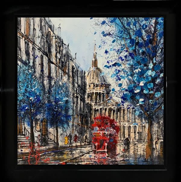 Nigel Cooke My Stop , 2021 Original Mixed Media Framed Size: 60x 60 cm