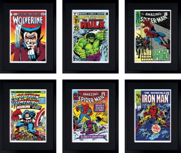 Marvel/ Stan Lee, Marvel Superheroes Portfolio Set of 6, 2016