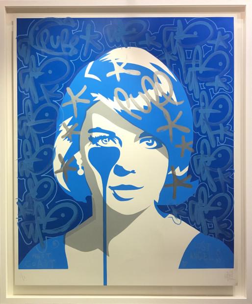Pure Evil, Natalie Wood - Hand Embellished Blue, 2021