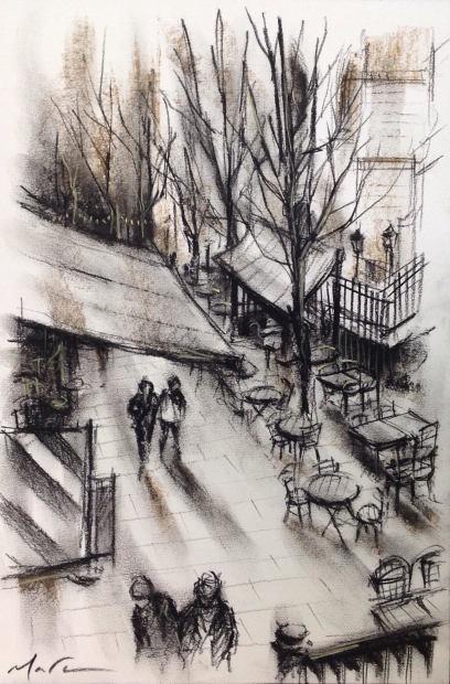 Marc Gooderham, A Winter Stroll - Borough Market, 2019