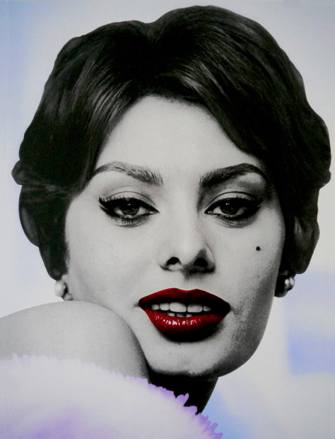 David Studwell Sophia Loren I, 2019 Framed Hand Pulled Silk Screen Print Framed Size 35 3/8 x 27 1/8 in Framed Size 90 x 69 cm Limited Edition of 30