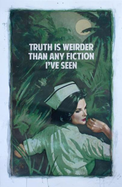 """The Connor Brothers The Truth Is Weirder Than Any Fiction - AP Edition, 2019 Artist Proof Edition Giclee print Hand Embellished Framed Size: 35.5"""" x 53.5"""" Framed Size: 90 x 135 cm"""