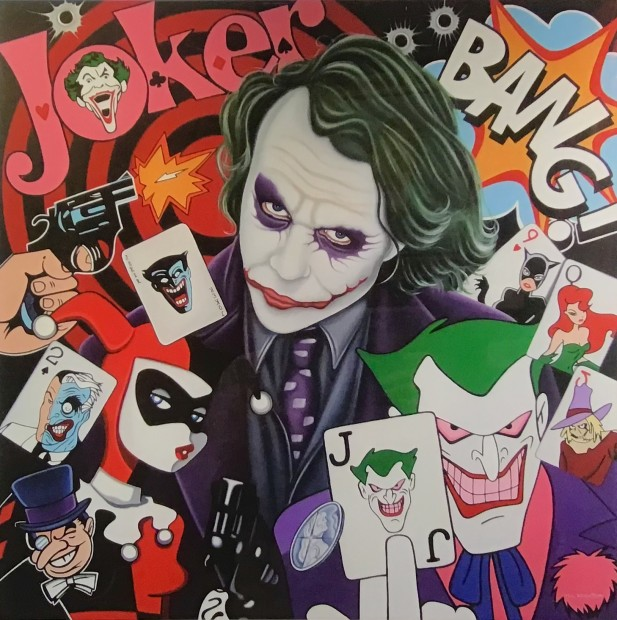 Marie Louise Wrightson The Joker, 2019 Framed Signed Limited Edition Print. Artist Hand Drawn Remark Around Mount Framed Size 23 5/8 x 23 5/8 in Framed Size 60 x 60 cm Limited Edition of 6 of 7
