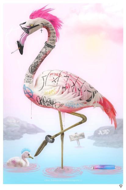 JJ Adams, Punk Flamingos, 2021