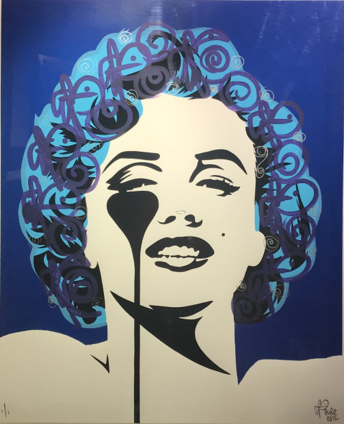 Pure Evil, I Dream of Marilyn - Hand Embellished - Blue, 2021