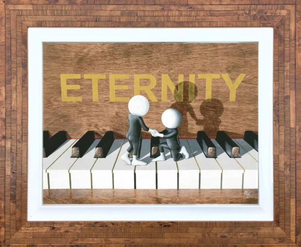 """Mark Grieves  Eternity, 2018  3D Resined Giclee Print  Framed Size: 27.5"""" x 22.5""""  Limited Edition of 100"""
