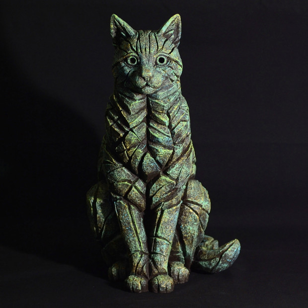 Matt Buckley, Cat Sitting - Emerald Gold Glow, 2017