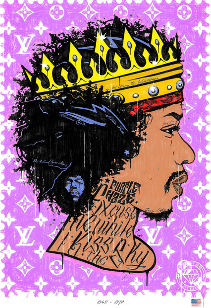 JJ Adams, Purple Haze - Jimi Hendrix /Rock Icon Stamp, 2020