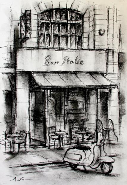 Marc Gooderham, Bar Italia, Soho II, 2018