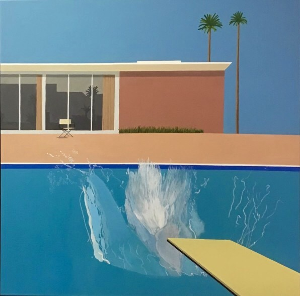 Peter Osborne, David Hockney - A Bigger Splash , 2019