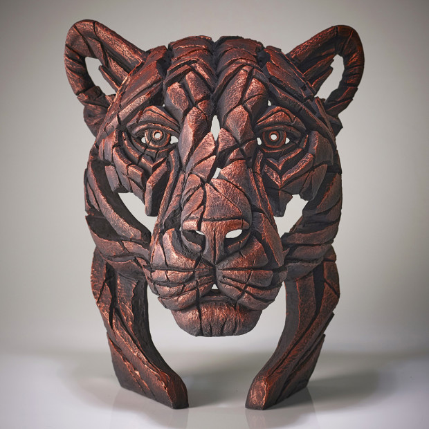 Matt Buckley, Panther Bust Jungle Flame (Copper), 2020