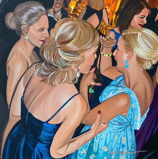 Nancy Lamb, Turquoise Silks, 2020