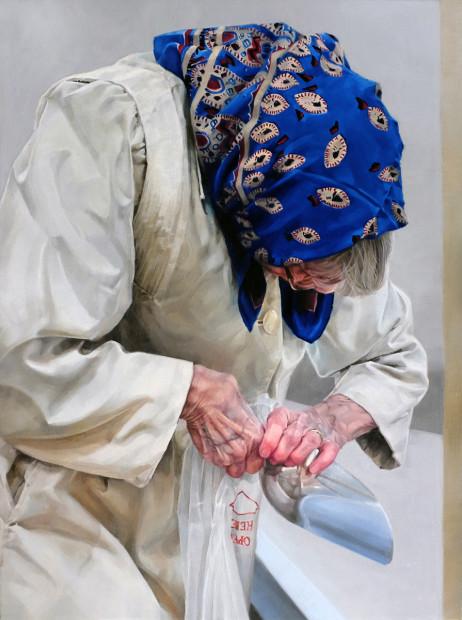 Amy Werntz, Blue Scarf II, 2020