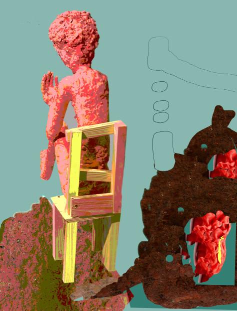 Emily Potts, Bubble Gum Chair, 2020