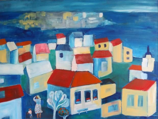 Gloria Webster, Village Near the Sea, 2020