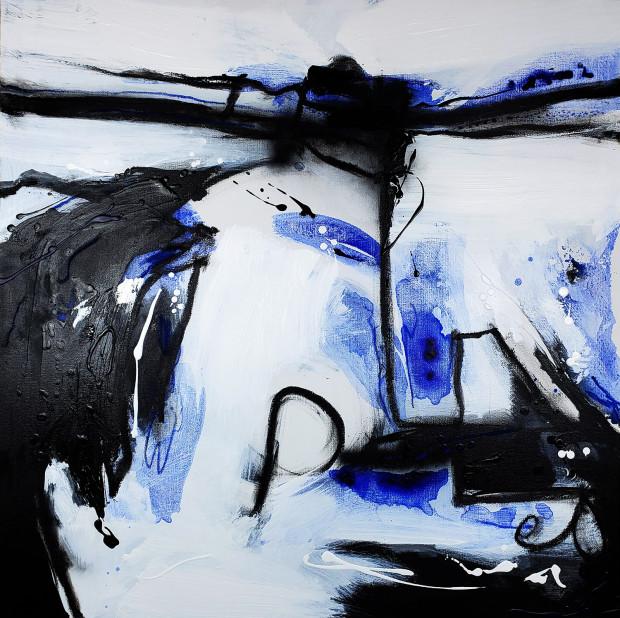 Randy Padorr-Black, Black & Blue Series No. 1, 2020