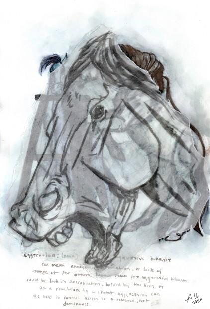 Pamela Vigo Sanchez, The Horse [human] on Stall Rest [self isolation]: A, 2020