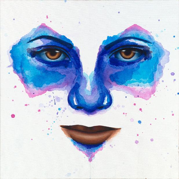 William Toliver, Blue Face, 2020