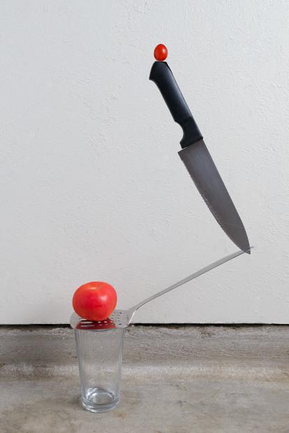 Jake Dockins, Knife and Tomatoes, 2020