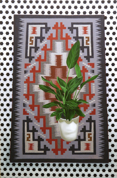 Devon Nowlin, Casual Luxuries: Navajo Rug with Paradise Plant, 2015