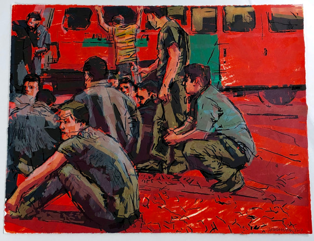 Ron Tomlinson, Reynosa (Red), 2017