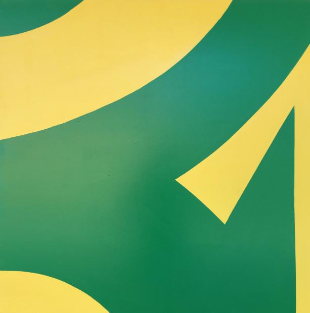 William Greiner, Road Signs In Designer Colors (Green), 2017