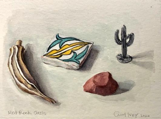 Carol Ivey, Red Rock, 2020