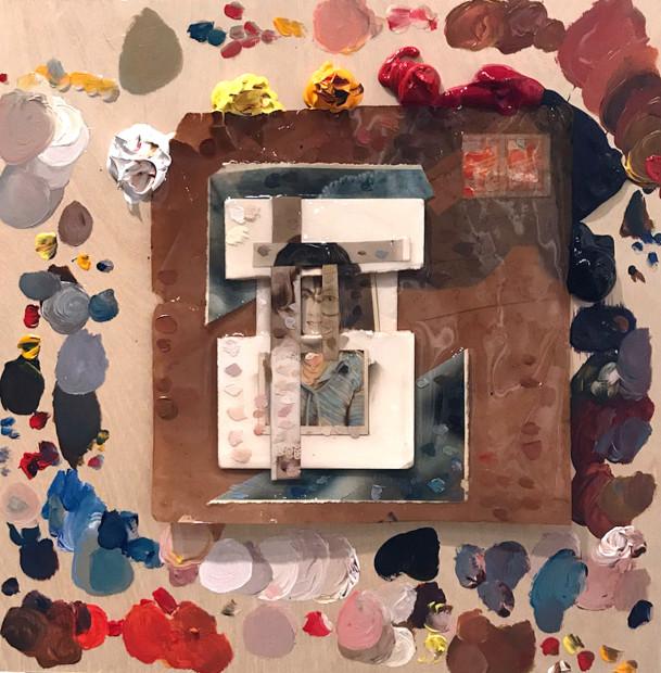 Maisie Alford, paint palette, 2017