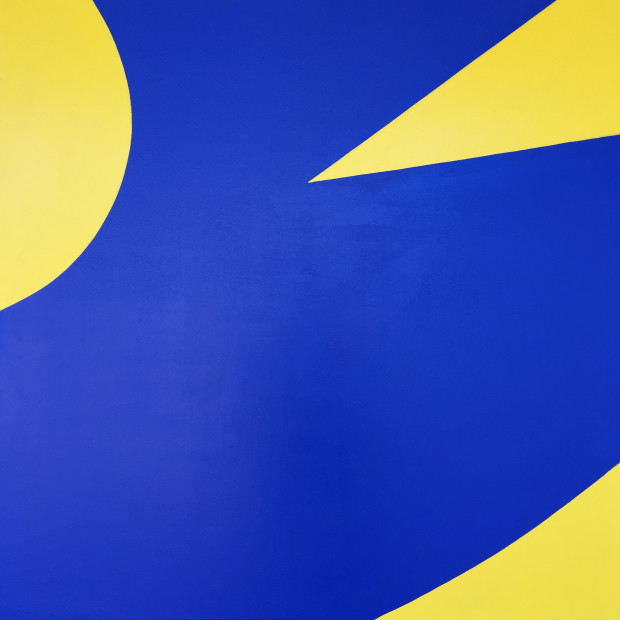 William Greiner, Road Signs In Designer Colors (Blue), 2017